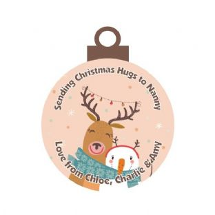 Christmas Hug Acrylic Christmas Ornament Decoration Deer & Snowman